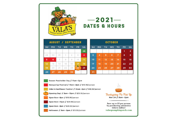 Vala's Discount Days 2021!